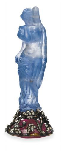 The Blue Venus. A carved sapphire sold by exiled Russian royalty to Cartier in the 1920's.