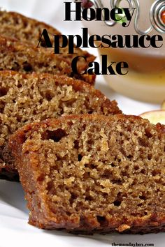 Honey Applesauce Cake cupcakecakes Honey Applesauce Cake is a moist sweet loaf cake that stays fresh for at least a week and freezes well A quick and easy gift loaf themondaybox honey quickbread loafcake # Bon Dessert, Dessert Cake Recipes, Köstliche Desserts, Dessert Bread, Cupcake Recipes, Best Cake Recipes, Delicious Desserts, Honey Recipes, Apple Recipes