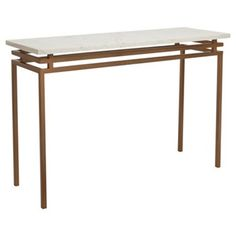 """Check out this item at One Kings Lane! Tribeca 50"""" Console, Antique Brass"""