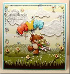 LOTV - Teddy For Mum by DT Katarina - http://www.liliofthevalley.co.uk/acatalog/Stamp_-_Teddy_-_For_Mum.html