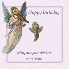 19 best tokenswishesangel coinsangel pennies images on pinterest a very pretty happy birthday angel card choose the guardian angel and write a special m4hsunfo