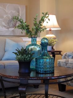 Closeup of vignette created by Marie Kelly Unlimited for a property in Huntley, IL Homestaging Dining Room Centerpiece, Centerpieces, Table Decorations, Table Decor Living Room, Home Living Room, Fall Home Decor, Autumn Home, Home Staging, Kirkland Home Decor