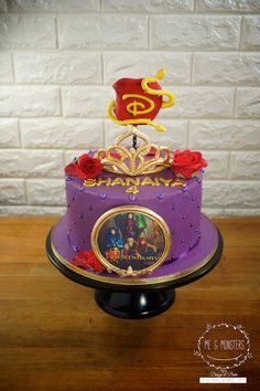 Disney's Descendant Theme cake