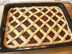 Mřížkový koláč s povidly