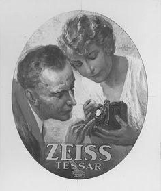 An advertising poster for the Tessar from the early 20th century
