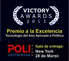 Premio a la Excelencia en Tecnología del año aplicada a Política en Policonference 2013