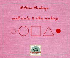 Pattern Markings – What are they all about? - Bagladybird - Learn to Sew Tilly And The Buttons, Types Of Patterns, Small Circle, Weaving Process, Pin Hole, Learn To Sew, Sewing Hacks, Dressmaking, Dots