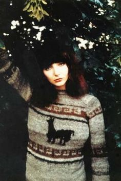 Kate Bush is rockin' that sweater Experimental Music, Women Of Rock, In The Tree, Female Singers, Record Producer, Album Covers, Folk, Trees, Jumper