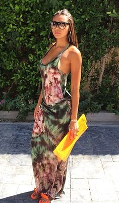 "ecstasymodels:"" Shaniece Hairston smoldered in a Young Broke & Fabulous tie-dye sleeveless maxi dress"" Cool Outfits, Summer Outfits, Casual Outfits, Summer Dresses, Summer Maxi, Summer Time, Fashion Killa, Look Fashion, Womens Fashion"