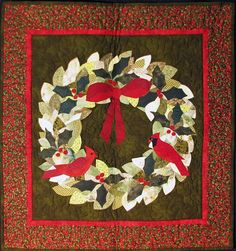 """Winter Wreath, 24 x 27"""" by Gretchen Gibbons"""