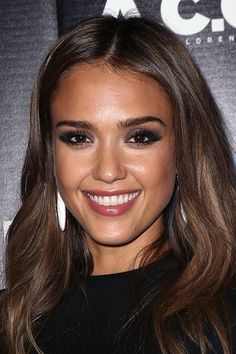 brown eyes make up jessica alba