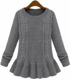 Amazon.co.jp: 長袖 ニット セーター フレア レディース プルオーバー ハイゲージ 秋冬: 服&ファッション小物