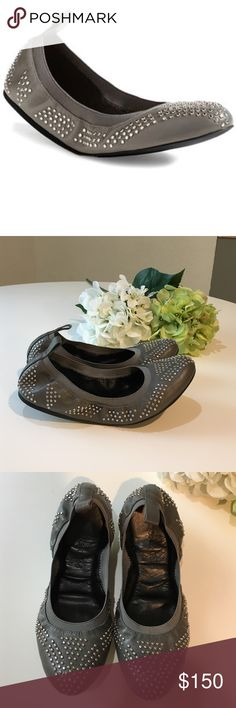 See by Chloe studded ballet flats These are like new, and have hardly been worn. Grey studded grey leather ballet flat. Excellent condition!! If these fit me, I would NOT be selling these. Size 37 See by Chloe Shoes Flats & Loafers