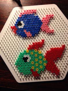 Fishes hama perler beads by Dorte Marker