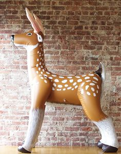 Life size inflatable deer - how awesome would this be for a photobooth