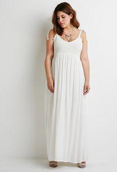 Crochet-Paneled Maxi Dress | Forever 21 PLUS - 2000053338