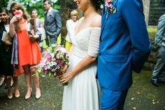 Bright Bouquet | Jenny Packham Belle Gown | Rachel Simpson Bridal Shoes | twobirds heather Bridesmaid Dresses | Rustic Wedding in Northern Ireland | Industrial lighting & greenery decor | Images by Navyblur | http://www.rockmywedding.co.uk/charlene-rob/
