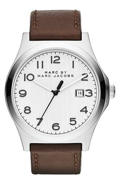 MARC BY MARC JACOBS 'Jimmy' Leather Strap Watch, 43mm available at #Nordstrom