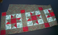 """Christmas Tablerunner Table Runner Quilt 70"""" by 17"""" - Handcrafted by Seller.  $39.99 on eBay."""