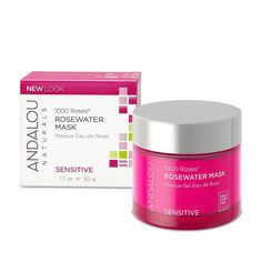 Andalou Naturals Rosewater Mask - 1000 Roses - 1.7 oz from ORGANIKthings. Shop more products from ORGANIKthings on Wanelo.