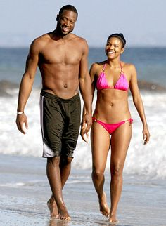 Gabrielle Union and fiance Dwayne Wade brought some extra heat to this Malibu shoreline. Check out other celeb couples who like hit the beach together!