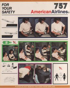 American Airlines 757 Safety Card  http://flight72.net