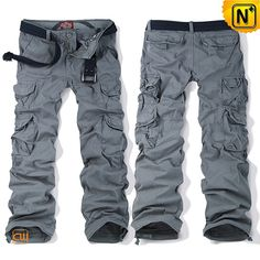 Belted Grey Cargo Pants for Men CW100012 Classic loose fit belted grey cargo pants for men made of 100% cotton, our cargo pants are comfort and durability that suits your outdoor lifestyle, garment dyed with extra softeners for lived in feel!