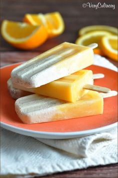Orange juice and ice cream come together to make this classic fruity and creamy popsicle at home!