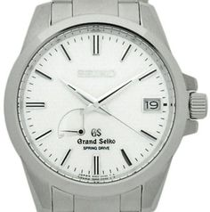 Seiko Grand Spring Drive SBGA025 Stainless Steel White 39.4mm Mens Watch