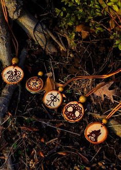 pagan *wooden burned* necklaces  <3