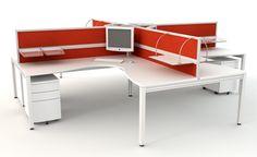 Rubix 4-way Pod Workstations