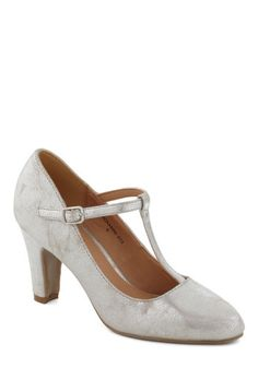Everything's Aglow Heel in Silver, #ModCloth My shoes for the Gala and LOVE them!!!  Cute & Comfy!