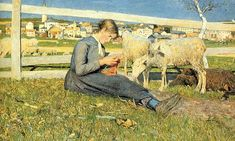 Giovanni Segantini - this view of Savognin was painted in 1888