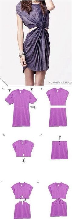 Turn A Long Baggy Shirt Into A Super Stylish Dress!