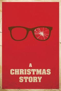 minimalistic christmas story movie poster
