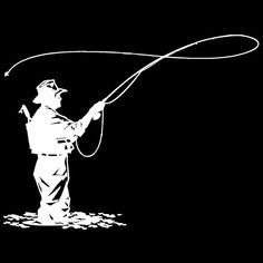 Image result for fly fishing silhouette clipart