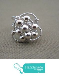 Sterling Silver Beaded Ring from FirednWiredJewelry