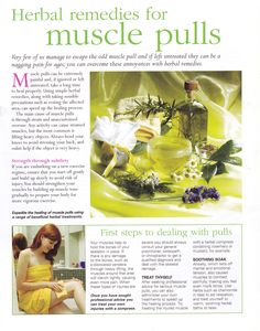 Herbal remedies for muscle pulls