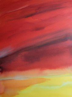 "Koen Lybaert; Watercolor 2013 Painting ""Barkeol II"""