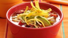 Enjoy this spicy version of tortilla soup anytime—you'll love the fire roasted tomato flavor!