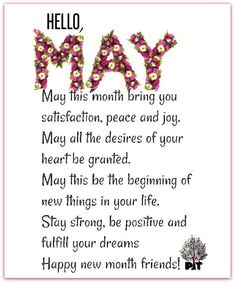 Goodbye April, Hello May! New Month Quotes, May Quotes, Quotes Mind, Quotes Thoughts, Soul Quotes, Life Quotes, Calendar Quotes, Monthly Quotes, Forgotten Quotes
