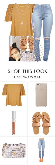 """""""If u let me love ya"""" by marriiiiiiiii ❤ liked on Polyvore featuring River Island, KYMA, Chanel and Forever 21"""