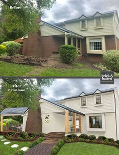 Over the past few months our designers at brick&batten have researched and discovered exterior home trends coming your way in Exterior Colors, Exterior Paint, Exterior Design, Home Exterior Makeover, Exterior Remodel, Home Design, Design Ideas, Design Trends, Spa Design