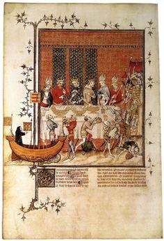 Nef!  MINIATURIST, French Grandes Chroniques de France de Charles V 1375-80 Manuscript (Ms. français 2813), 350 x 240 mm Bibliothèque Nationale, Paris