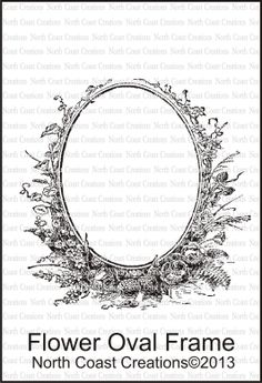 North Coast Creations - Flower Oval Frame