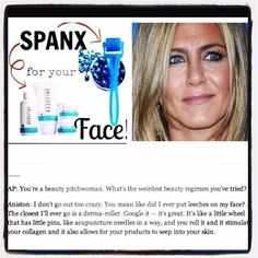 Jennifer aniston uses the rodan amp fields amp md micro needle roller