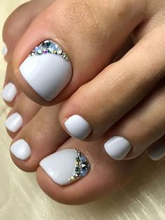 20 Trending Winter Nail Colors Design Ideas For 2020 20 January Nails For 2019 April Golightly 40 Cute Winter Nail Art Designs Artbrid Home Color Street 1001 Ideas For Winter Nail Colors To Try This Season New Style Nails 2019 Pretty Toe Nails, Cute Toe Nails, My Nails, Pedicure Nails, Gel Toe Nails, White Pedicure, Winter Nails 2019, Summer Toe Nails, Winter Nail Art