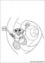 Wall E Coloring Pages On Book