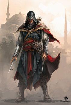 • Illustration art gaming concept art assassin's creed Ubisoft Assassin's Creed Revelations Ezio Auditore da Firenze Martin Deschambault xombiedirge •