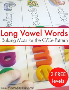 FREE Building Mats for Long Vowel Words {CVCe Patterns} - 2 Levels included! | This Reading Mama